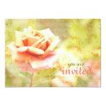 Canción de la primavera II - color de rosa Invitación 12,7 X 17,8 Cm