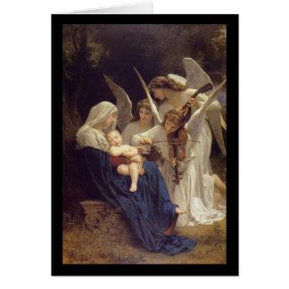 Canción de la tarjeta de Navidad de los ángeles