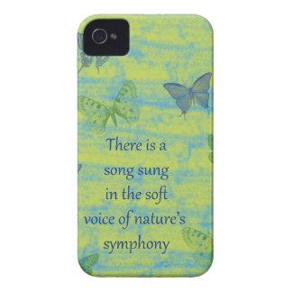 Canción de las mariposas iPhone 4 funda
