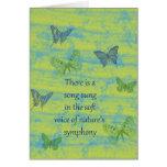 Canción de las mariposas tarjetas