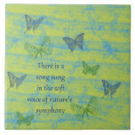 Canción de las mariposas teja  ceramica
