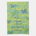 Canción de las mariposas toallas de cocina