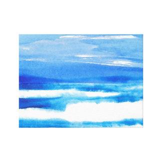 Canción de las ondas del mar del paisaje marino lienzo envuelto para galerías