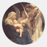 Canción de los ángeles etiqueta redonda