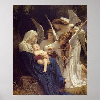 Canción de los ángeles - Guillermo Bouguereau Póster