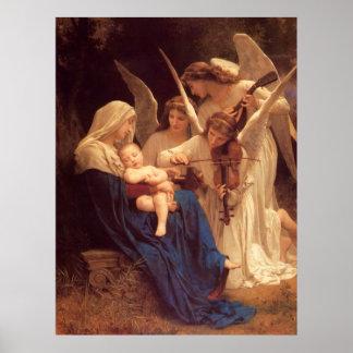 Canción de los ángeles por Bouguereau Posters