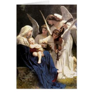 Canción de los ángeles - tarjeta de Navidad