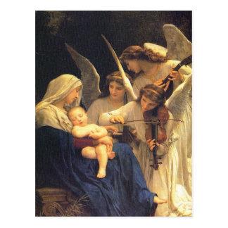 Canción de los ángeles, William-Adolphe Bouguereau Postales