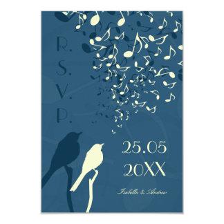 """Canción de los pájaros del amor - RSVP Invitación 3.5"""" X 5"""""""