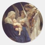 Canción de los pegatinas de los ángeles pegatina redonda