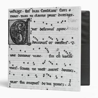 Canción de Ms.Fr 844 fol.138v de Blondel de Nesles