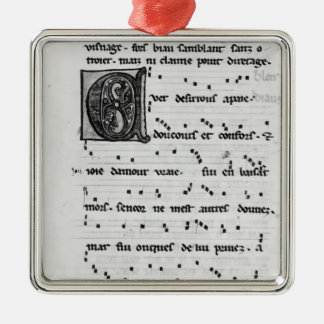 Canción de Ms.Fr 844 fol.138v de Blondel de Nesles Ornatos