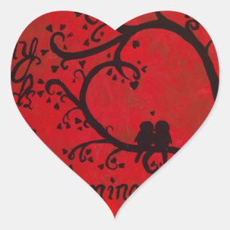 Canción de Solomon Pegatina En Forma De Corazón