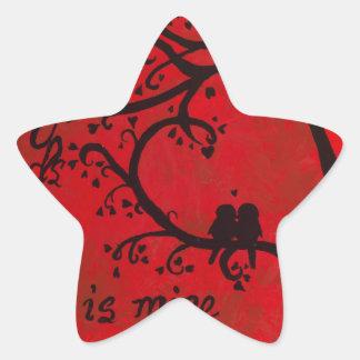 Canción de Solomon Pegatina En Forma De Estrella
