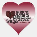 Canción del 1:14 de Solomon Calcomanía Corazón