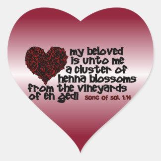 Canción del 1:14 de Solomon Pegatina En Forma De Corazón