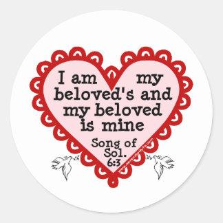 Canción del 6:3 de Solomon Pegatina Redonda