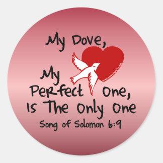 Canción del 6:9 de Solomon Pegatina Redonda