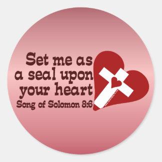 Canción del 8:6 de Solomon Pegatina Redonda