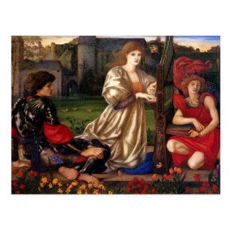 Canción del amor - Edward Burne-Jones Postal
