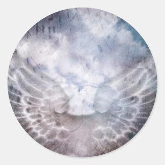 Canción del ángel etiqueta redonda