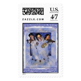 canción del ángel sellos postales