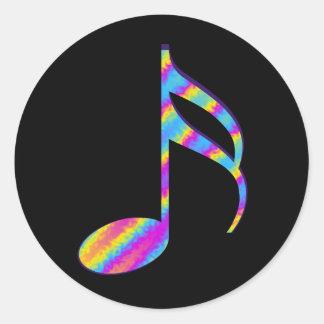 canción del arco iris pegatina redonda