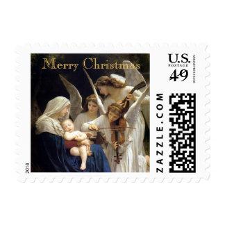 Canción del franqueo del navidad de los ángeles timbre postal