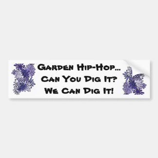 Canción del hip-hop del jardín pegatina para auto