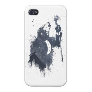 canción del lobo (azul) iPhone 4/4S carcasa