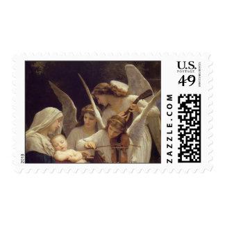 Canción del navidad de los ángeles estampilla