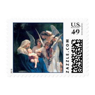 Canción del navidad de los ángeles sello postal