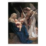 Canción del navidad del vintage de los ángeles tarjeta de felicitación