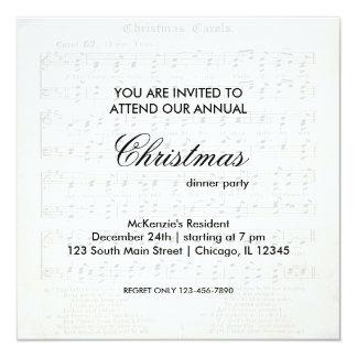"""Canción del navidad invitación 5.25"""" x 5.25"""""""