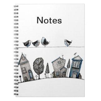 Canción del pájaro spiral notebook