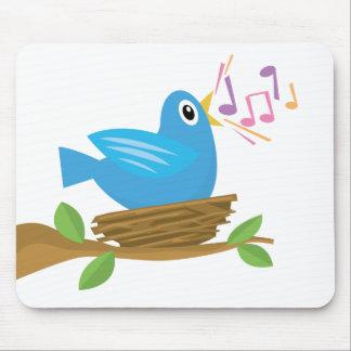 Canción del pájaro de la primavera mousepads