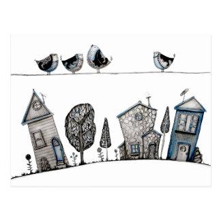 Canción del pájaro tarjetas postales