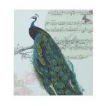 Canción del pavo real - vintage inspirado bloc