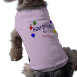 Canción personalizada del feliz cumpleaños… prenda mascota