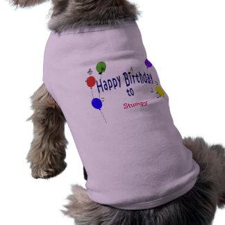 Canción personalizada del feliz cumpleaños… playera sin mangas para perro