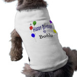 Canción personalizada del feliz cumpleaños… camisetas de mascota
