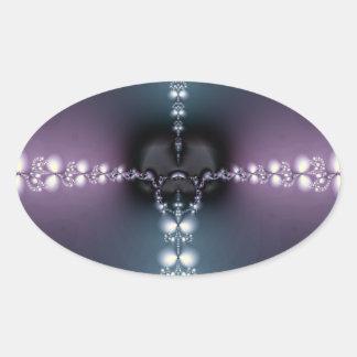 Canción púrpura calcomanía oval