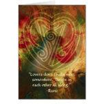 Canción-Rumi interna y arte poético Tarjetas