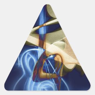 Canción y danza del destino de la secuencia de la calcomanías triangulos