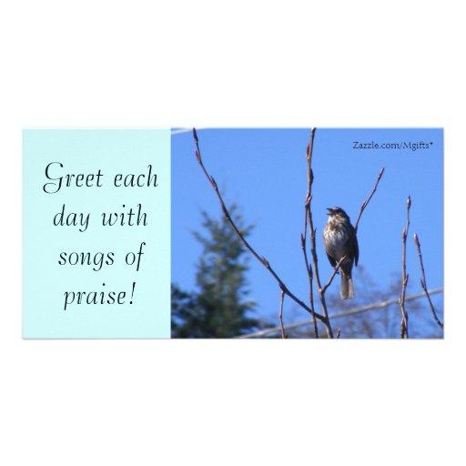 Canciones de la alabanza tarjetas personales