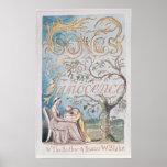 Canciones de la inocencia; Página de título, 1789 Posters