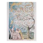 Canciones de la inocencia; Página de título, 1789 Postal