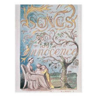 Canciones de la inocencia; Página de título, 1789 Tarjeta Postal