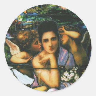 Canciones del vitral de la primavera del pegatina