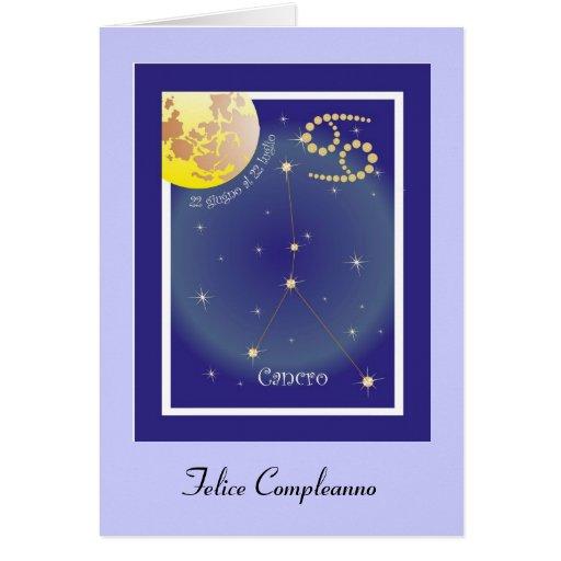 Cancro 22 al 22 giugno luglio tarjeta